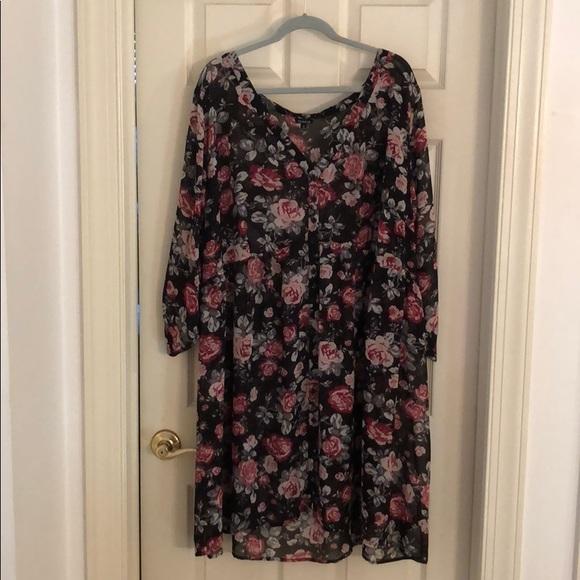 3ec712cec2e Flora Button front shirt dress. M 5b672c81dcfb5a9935b00ea4